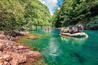 Рафтинг в Черногории сплав по реке