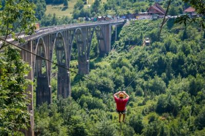Zip line: Dzurdzhevich Bridge