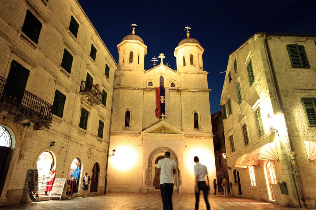 Церковь Святого Николая вечером