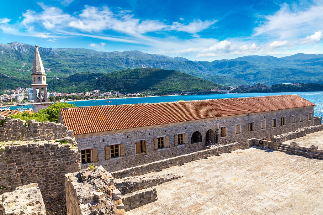 Citadel in old town in Budva