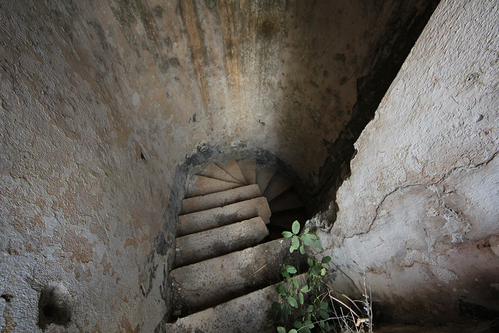 Лестница в крепости Горажда