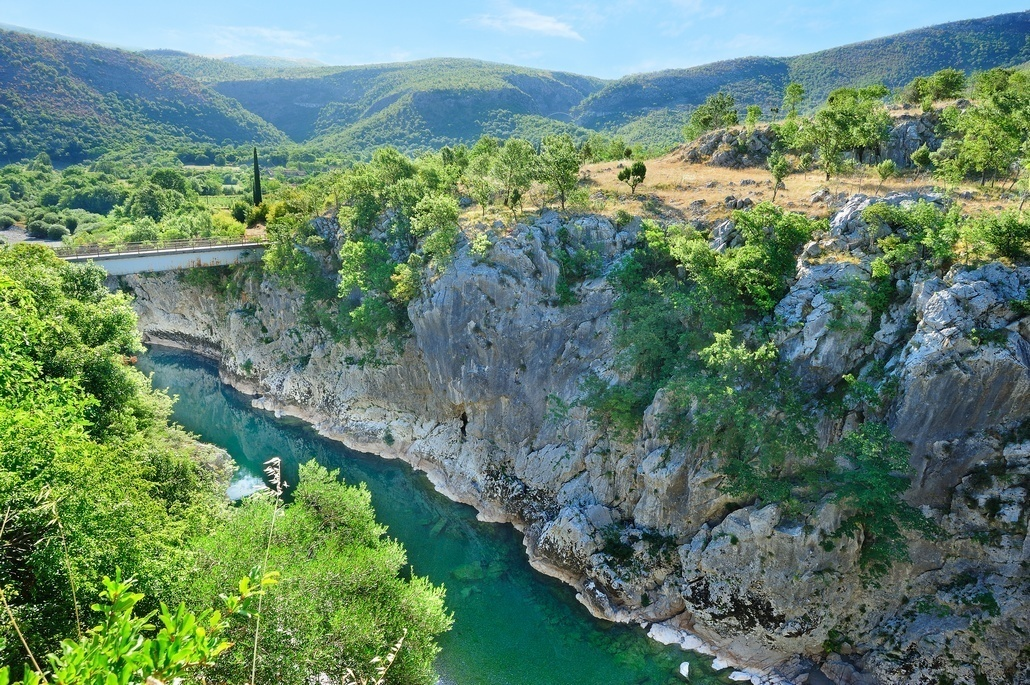 Canyon of the river Morača