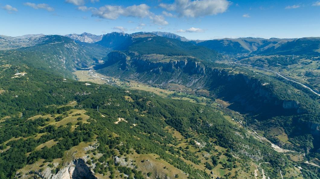 Панорама каньона Комарница Черногория