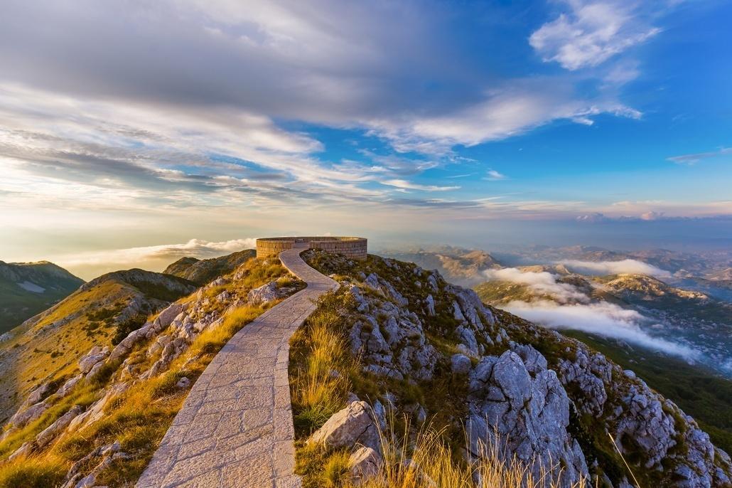Национальный парк Ловчен на закате - Черногория