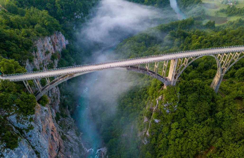 Bridge Đurđevića on the Tara river in Montenegro
