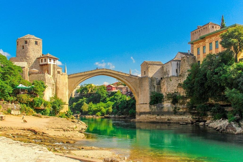 Мостар в Боснии и Герцеговине