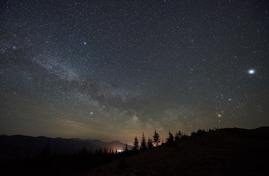 Ночь в горах Черногории
