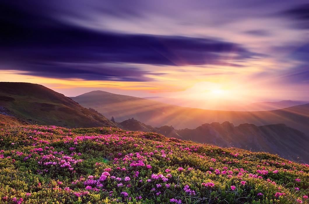 Закат в национальном парке Проклетие Черногория
