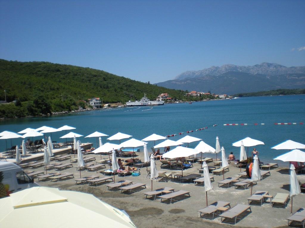 Луштица, Тиват: пляж Солила