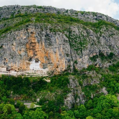 Ostrog monastery in Montenegro. The unique monastery in the rock
