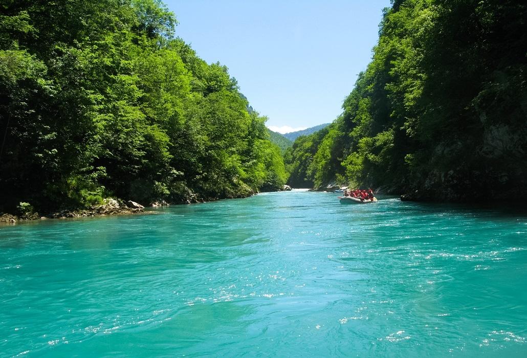 Рафтинг - спуск по реке Тара