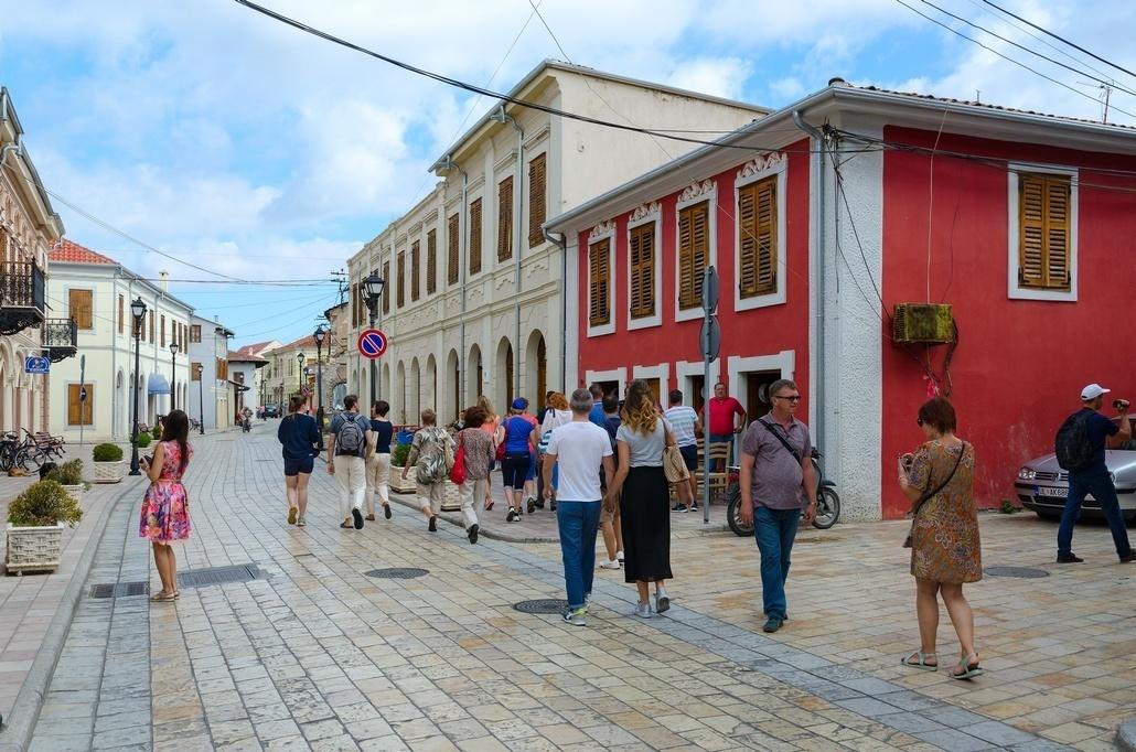 Улицы Шкодера в Албании