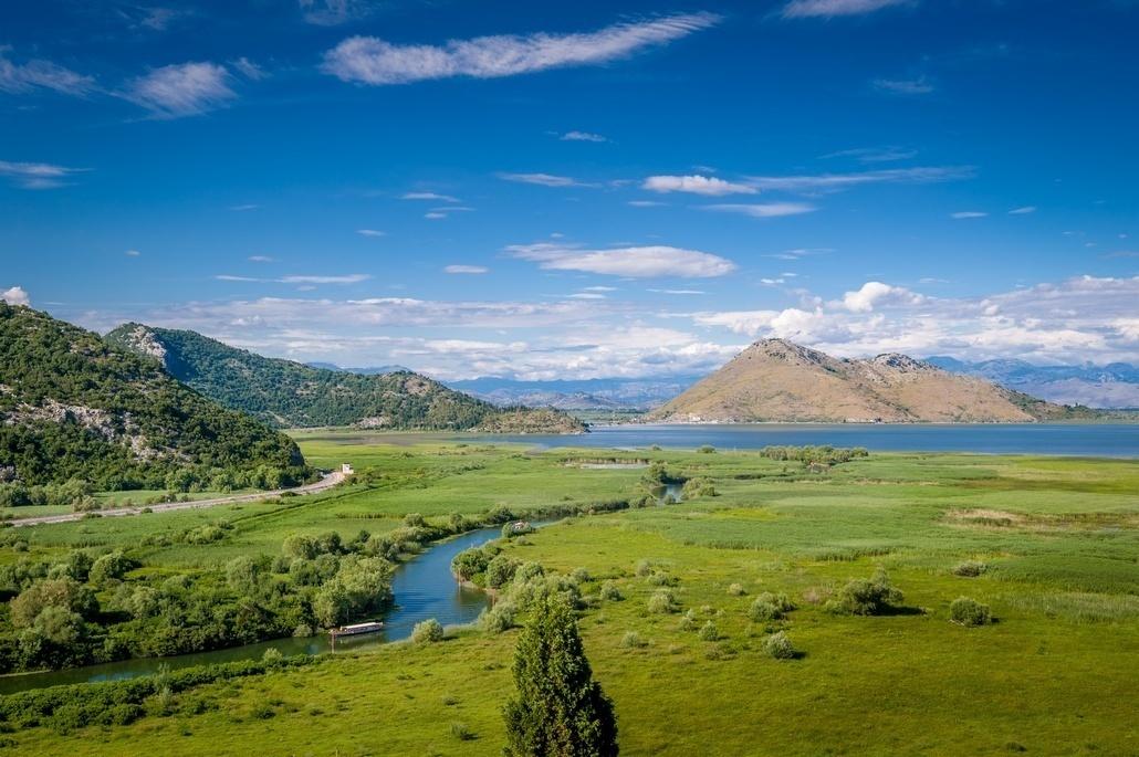 Река Церневича на Скадарском озере