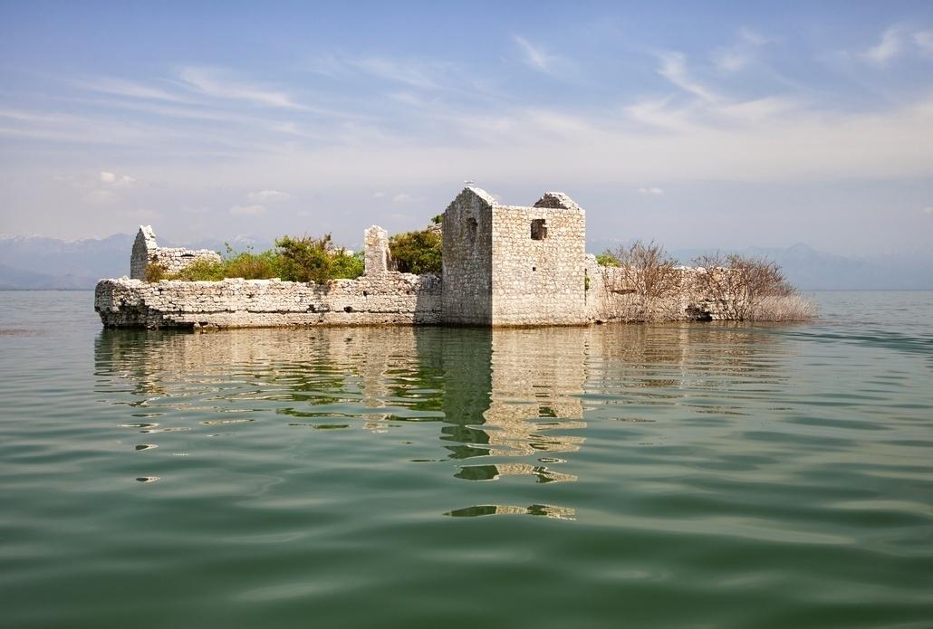 Abandoned prison on Skadar lake