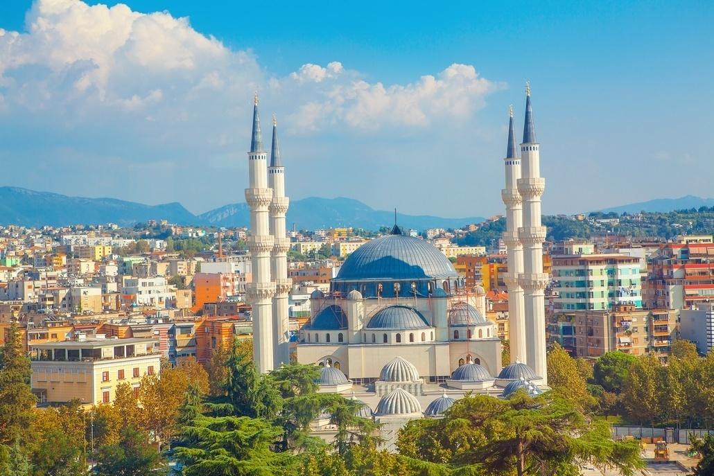 Город Тирана в Албании