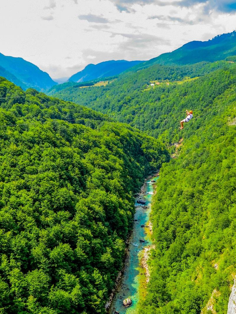 Зип Лайн каньон Тара Черногория